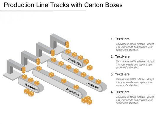 Production Line Tracks With Carton Boxes Ppt PowerPoint Presentation Gallery Show