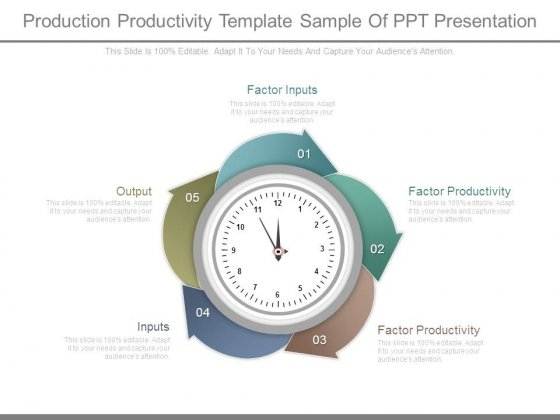 Production Productivity Template Sample Of Ppt Presentation