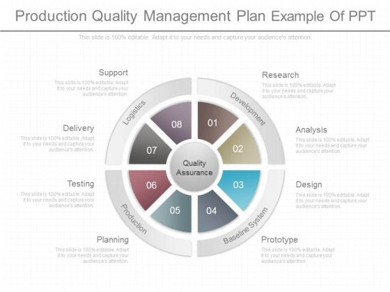 Production Quality Management Plan Example Of Ppt