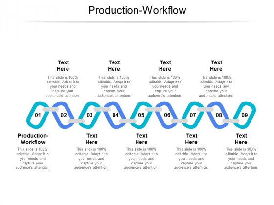 Production Workflow Ppt PowerPoint Presentation Outline Clipart Cpb