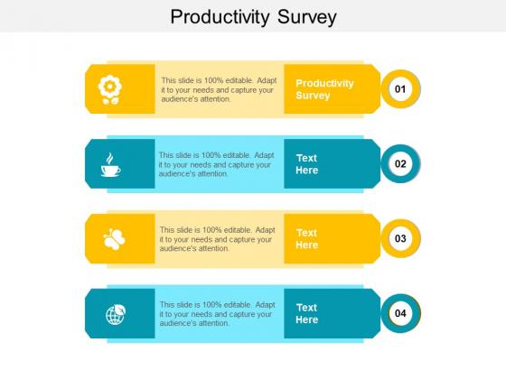 Productivity Survey Ppt PowerPoint Presentation Model Design Inspiration Cpb
