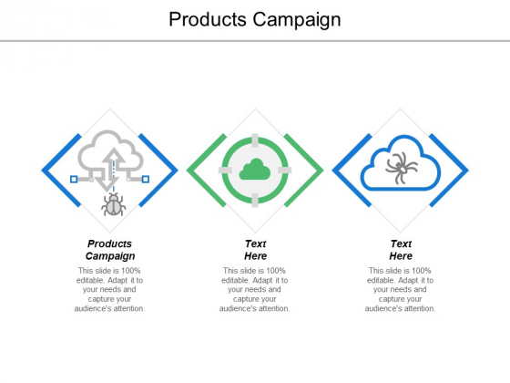 Products Campaign Ppt PowerPoint Presentation Portfolio Templates Cpb