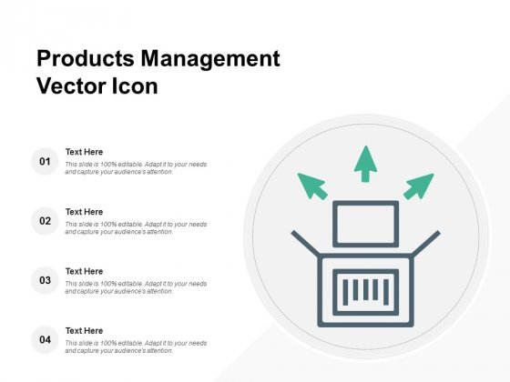 Products Management Vector Icon Ppt PowerPoint Presentation Show Visual Aids