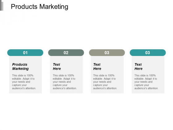 Products Marketing Ppt PowerPoint Presentation Model Example Topics Cpb