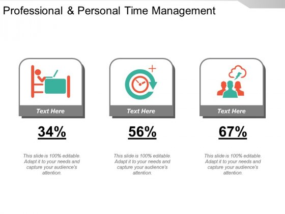 Professional And Personal Time Management Ppt PowerPoint Presentation Infographic Template Template