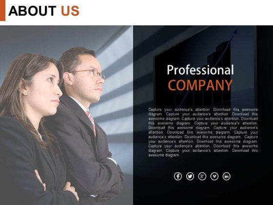 Professional Company About Us Design Powerpoint Slides