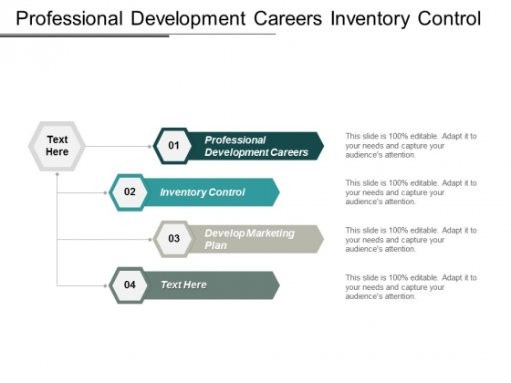 Professional Development Careers Inventory Control Develop Marketing Plan Ppt PowerPoint Presentation Icon Show