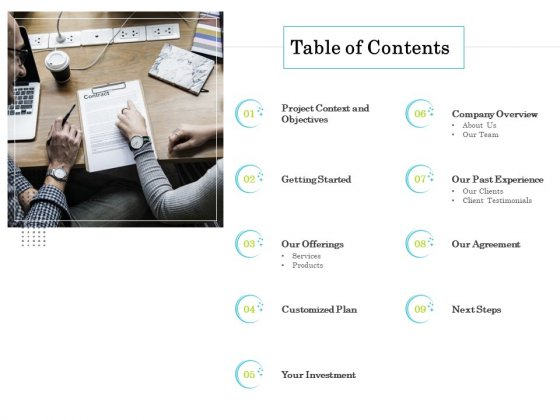 Professional House Cleaning Service Table Of Contents Graphics PDF