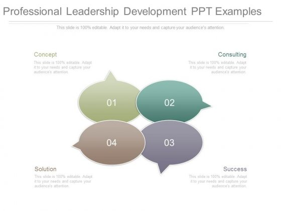 Professional Leadership Development Ppt Examples