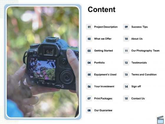 Professional Picture Proposal Content Ppt Infographics Information PDF