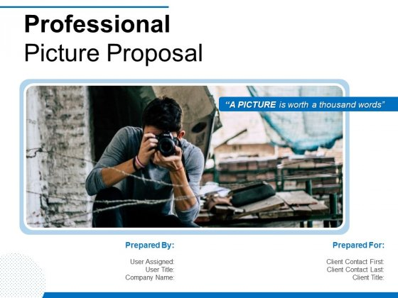 Professional Picture Proposal Ppt PowerPoint Presentation Complete Deck With Slides