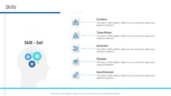 Professional Presentation For Self Introduction Skills Designs PDF