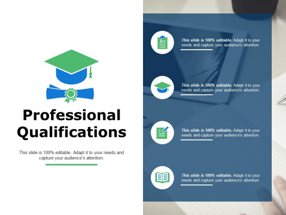 Professional Qualifications Ppt Powerpoint Presentation File Slide