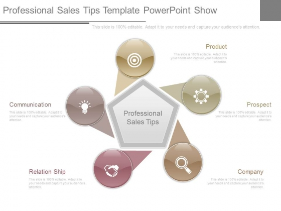 Professional Sales Tips Template Powerpoint Show