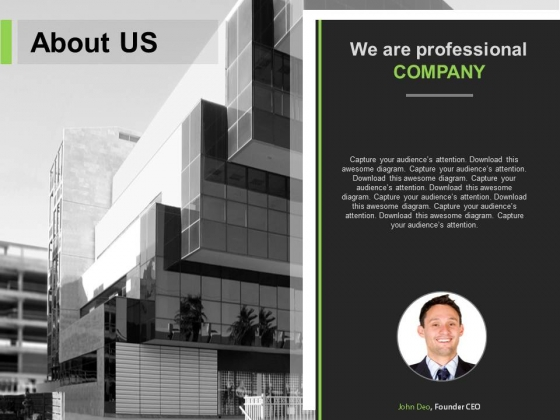 Professional Slide For About Us Projection Powerpoint Slides