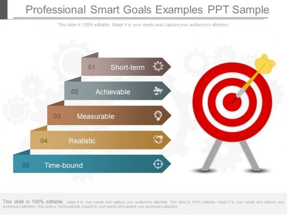 Professional Smart Goals Examples Ppt Sample