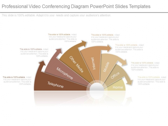 Professional Video Conferencing Diagram Powerpoint Slides Templates