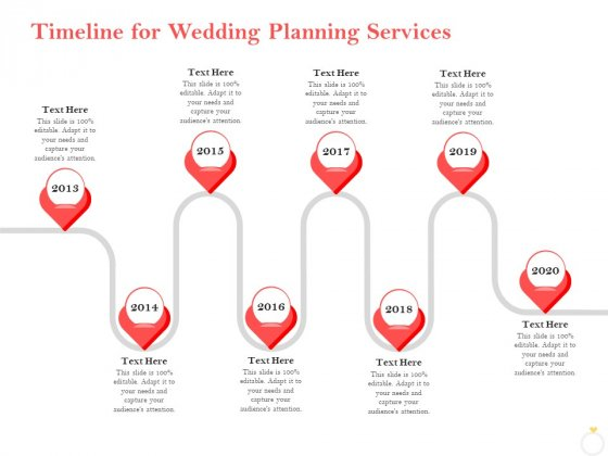 Professional Wedding Planner Timeline For Wedding Planning Services Ppt PowerPoint Presentation Gallery Example PDF