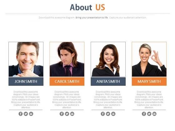 Professionals Team About Us Slide Powerpoint Slides