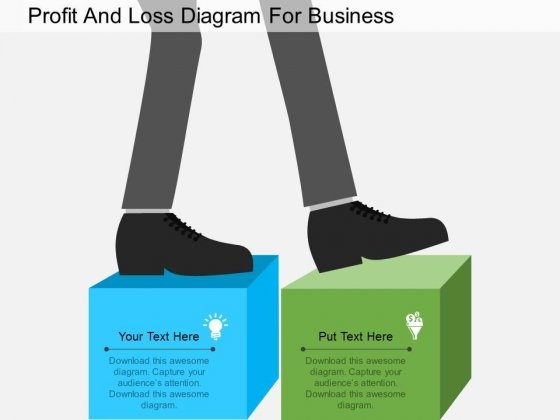 Profit And Loss Diagram For Business Powerpoint Template