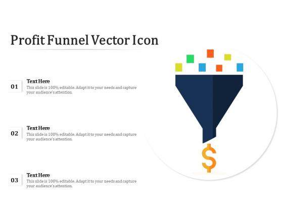 Profit Funnel Vector Icon Ppt PowerPoint Presentation Ideas Example Topics PDF