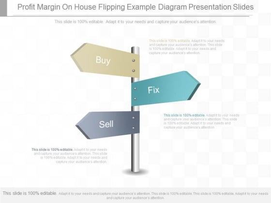 Profit Margin On House Flipping Example Diagram Presentation Slides