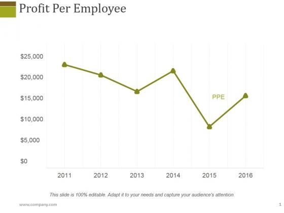 Profit Per Employee Ppt PowerPoint Presentation Slides Graphics