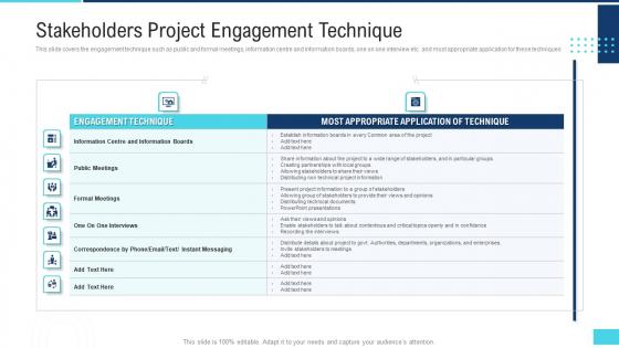 Profitable Initiation Engagement Process Stakeholders Project Engagement Technique Download PDF