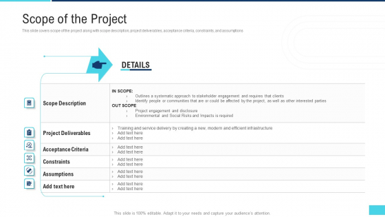 Profitable Initiation Project Engagement Process Scope Of The Project Ppt Styles Professional PDF