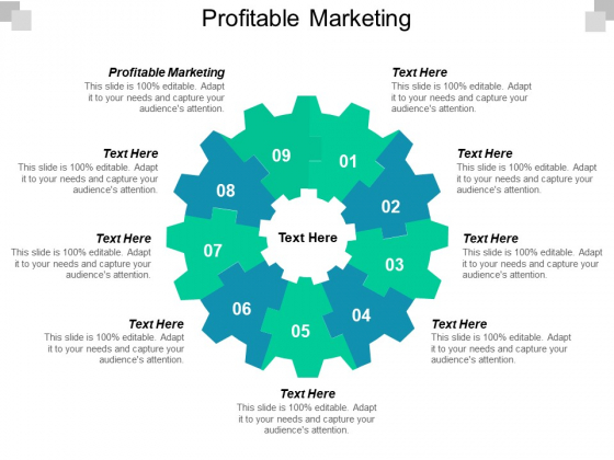 Profitable Marketing Ppt PowerPoint Presentation Inspiration File Formats Cpb