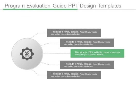 Program Evaluation Guide Ppt Design Templates