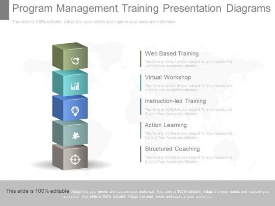 Program Management Training Presentation Diagrams