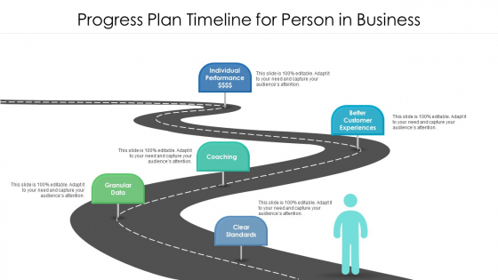 Progress Plan Timeline For Person In Business Ppt PowerPoint Presentation Gallery Background Image PDF