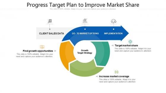 Progress Target Plan To Improve Market Share Ppt PowerPoint Presentation File Layouts PDF