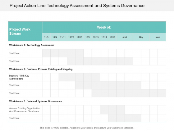Project Action Line Technology Assessment And Systems Governance Ppt Powerpoint Presentation Inspiration Designs Download