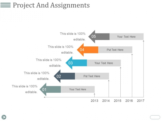 Project And Assignments Ppt PowerPoint Presentation Infographic Template Vector