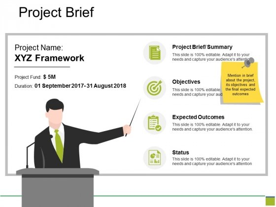 Project Brief Ppt PowerPoint Presentation Styles Example