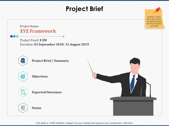 Project Brief Strategy Ppt PowerPoint Presentation Show Demonstration