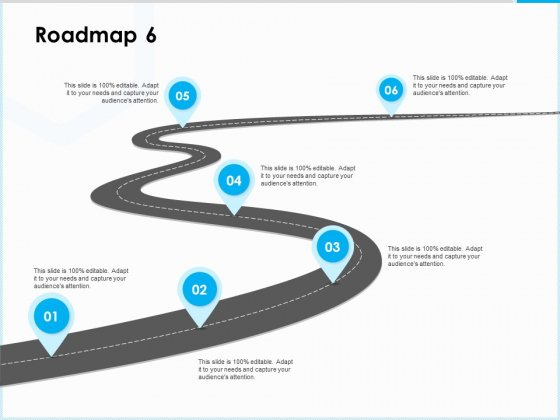 Project Budget Roadmap Six Stage Process Ppt PowerPoint Presentation Summary Ideas PDF
