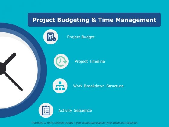 Project Budgeting And Time Management Ppt PowerPoint Presentation Infographic Template Icon