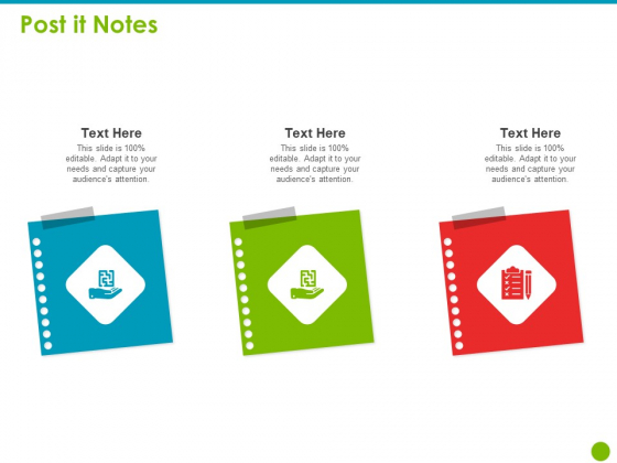 Project Capabilities Post It Notes Ppt Layouts Examples PDF