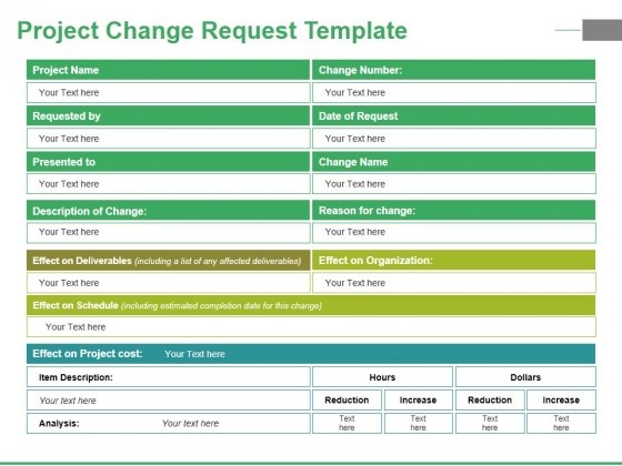 project change request template ppt powerpoint presentation file, Change Template In Powerpoint, Powerpoint templates