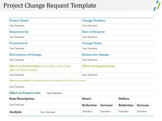 project change request template ppt powerpoint presentation layouts, Change Template In Powerpoint, Powerpoint templates