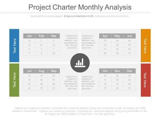 Project Charter Monthly Analysis Ppt Slides