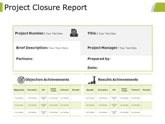 Project Closure Report Ppt PowerPoint Presentation Slides Portrait