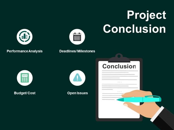 Project Conclusion Budget Ppt PowerPoint Presentation Gallery Diagrams