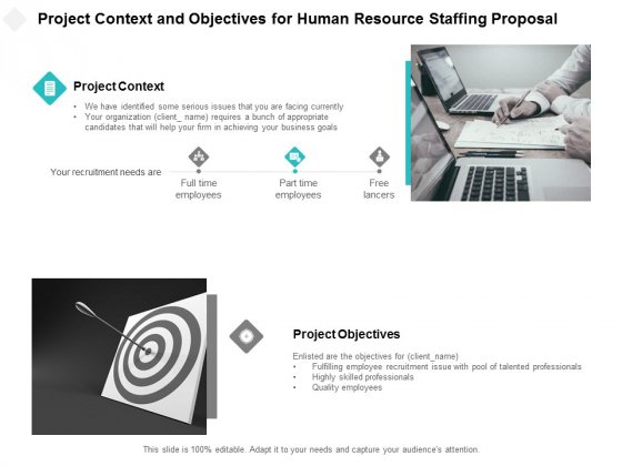 Project Context And Objectives For Human Resource Staffing Proposal Ppt PowerPoint Presentation Designs Download