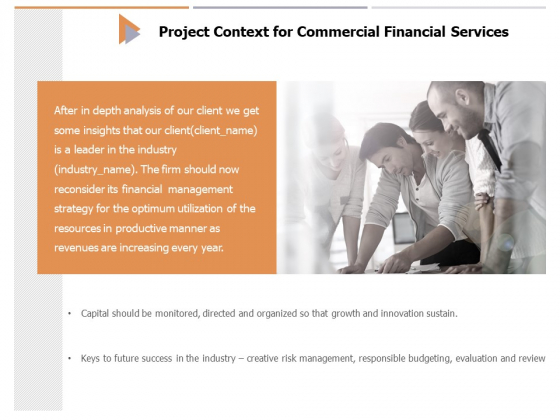 Project Context For Commercial Financial Services Ppt PowerPoint Presentation Infographic Template Template