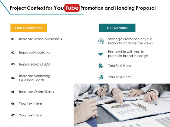 Project Context For You Tube Promotion And Handing Proposal Awareness Ppt PowerPoint Presentation Professional Graphics