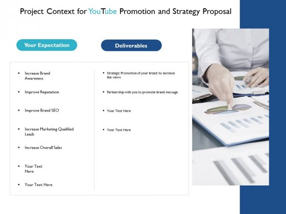 Project Context For Youtube Promotion And Strategy Proposal Marketing Ppt PowerPoint Presentation Layouts Vector